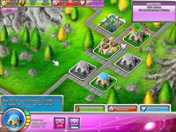 Captain Space Bunny game screen shot 2