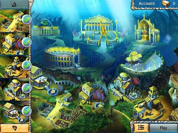 Jewel Legends Atlantis game screen shots 2