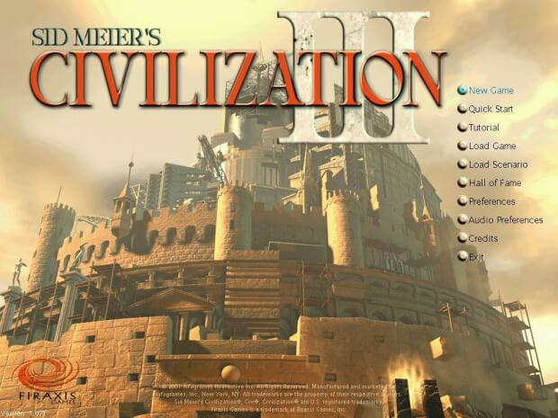 Civilization 3 Menu