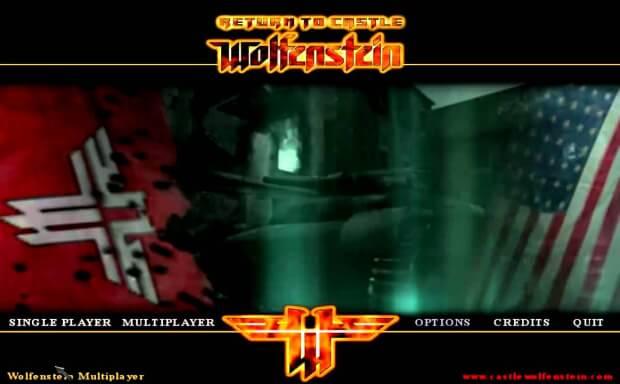 Return to Castle Wolfenstein Main Menu