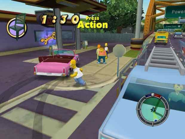 simpsons hit and run download