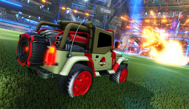Rocket League Jurassic World Car Pack Screenshots